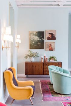 Beautiful colorful chairs in this boho space https://noahxnw.tumblr.com/post/160992551881/beautiful-silver-pendant-necklace