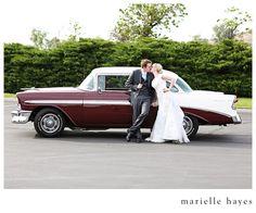 Vintage car for their wedding