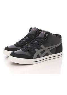 62841a6e6 Brand New Asics Aaron MT Black Charcoal Grey Shoes 101