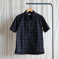 Half Sleeve Shirt #navy/cotton check
