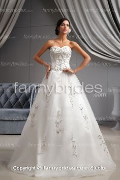 d6d0770abe1 Shop affordable Glam Organza A-Line Style Dress With Embroidered Bodice at June  Bridals! Over 8000 Chic wedding