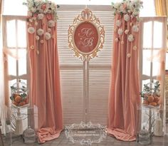 Whether you're looking for a bohemian backdrop or a princess themed backdrop, take a look at the cutest ideas for your over-the-top quinceanera backdrop! Diy Backdrop, Wedding Ceremony Backdrop, Backdrop Decorations, Photo Booth Backdrop, Flower Backdrop, Decoration Table, Wedding Decorations, Photo Booths, Debut Backdrop