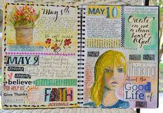 Art du Jour by Martha Lever: Big Journal page