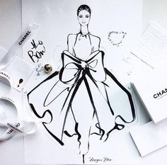 Wrapped up in Chanel / Megan Hess Illustration