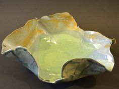 Ceramic Ocean Slab Bowl for Fruit or Center Piece by AmritaLash, $54.00
