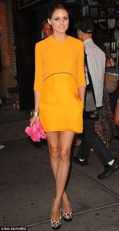Olivia Palermo has a rebellious accessories streak