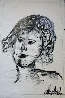 Bianca David - pictura.arta.creatie: serie noua - Desen-Dripping in tus pe panza .