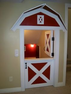 This would be so cute for a kids room that liked tractors and farm stuff