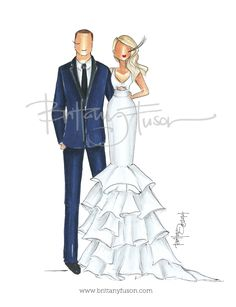 Brittany Fuson: Custom Bridal Illustration: Brittany| Be Inspirational ❥|Mz. Manerz: Being well dressed is a beautiful form of confidence, happiness & politeness