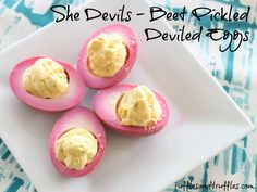 My Easter deviled eggs this year...so pretty!