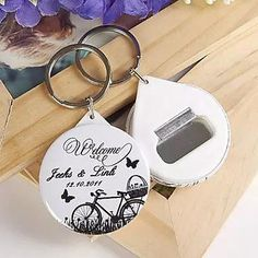 100 pieces personalised bottle opener and key chain - Wedding Favours Wellington