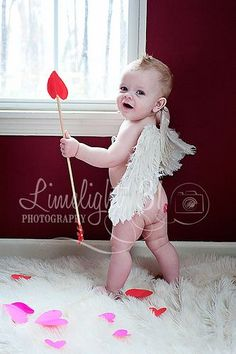 Baby cupid!  Valentines day photo session.