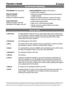 Government Spending Lesson Plan for - Grade Social Studies Worksheets, Government Spending, Teaching Resources, Study, Teacher, How To Plan, Reading, Studio, Professor