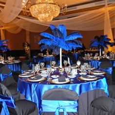 """Wholesale Event Solutions - DELUXE Ostrich Feather Plume Centerpiece with 24"""" Eiffel, $104.96 (http://www.eventswholesale.com/deluxe-ostrich-feather-plume-centerpiece-with-24-eiffel/)"""