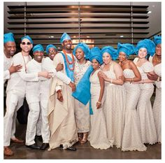 African Wedding....love the color of the head wrap