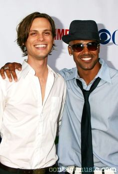Matthew Gray Gubler & Shemar Moore @ CBS UP-Front Presentation