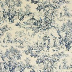 Covington M Musee Toile Blue Fabric Drapery Fabric, Fabric Decor, Curtains, Coastal Fabric, French Country Bedrooms, Country Bathrooms, French Country Fabric, French Fabric, Shabby Chic Bedrooms