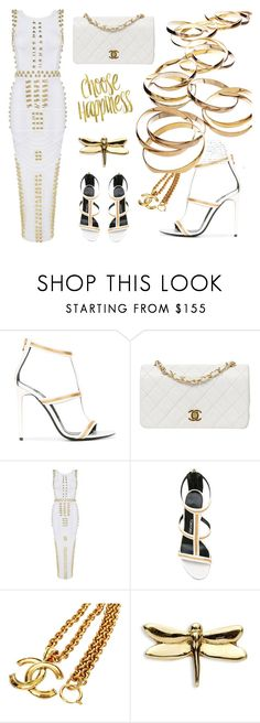 """""""White & Gold"""" by ellenfischerbeauty ❤ liked on Polyvore featuring Tom Ford, Chanel, Posh Girl and Loquet"""