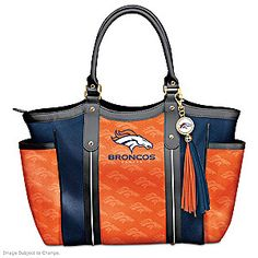 The Touchdown Broncos! Tote Bag lets you show off your pride with style in a custom-designed fashion accessory only from The Bradford Exchange
