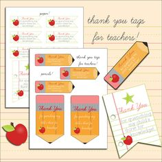 """free """"quench thirst for knowledge"""" printable thank you tags for teachers"""