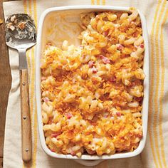 Baked Smokin' Macaroni and Cheese - Southern Comfort Food: Rich and Satisfying Casserole Recipes - Southern Living Healthy Southern Recipes, Vegetarian Recipes, Cooking Recipes, Healthy Recipes, Southern Food, Budget Recipes, Healthy Food, Macaroni Cheese Recipes, Baked Pasta Recipes