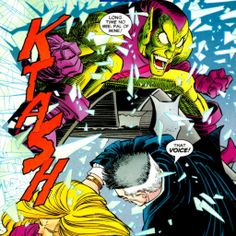 The Green Goblin lives in Peter Parker Spider-Man Comic Art, Comic Books, John Romita Jr, Spectacular Spider Man, Marvel Characters, Fictional Characters, Spiderman Art, Green Goblin, My Favorite Image
