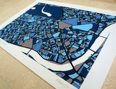 London Art Map - Chelsea, Kensington & Westminster - Limited Edition Contemporary Giclée Print