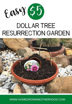 Resurrection Day is right around the corner and what a better way than to help our children celebrate in anticipation by making a Resurrection garden! | www.homegrownmotherhood.com #easteractivitiesforkids #christianeastercrafts Resurrection Day, Easter Activities For Kids, Biblical Marriage, Easy 5, Bible For Kids, Potting Soil, Garden Stones, Around The Corner, Terracotta Pots