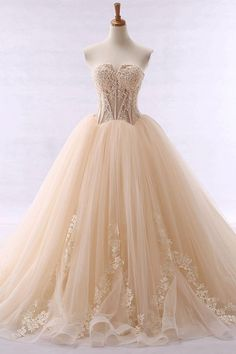 68d034f7e730de Strapless Appliques Ball Gown Color Wedding Dress Sprookjesachtige Jurk