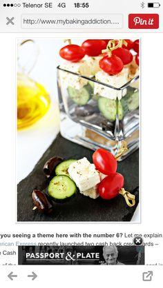 Tomat, ost gurka och oliv