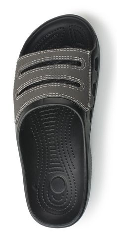 Amazon.com: Bertelli N.Y. Slide Beach Flip Flop Sandal With Leather Strap Overhead And Stiching: Clothing $12