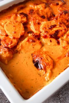 Whisky Flødekartofler – One Kitchen – A Thousand Ideas Source Side Recipes, Veggie Recipes, Cooking Recipes, Healthy Recipes, Potato Recipes, Healthy Food, Cook N, Luxury Food, Side Dishes For Bbq