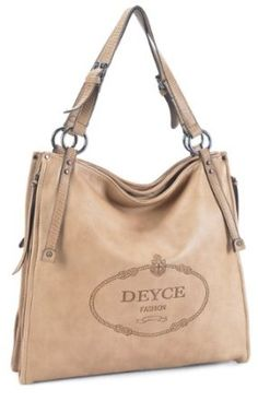 LSQ00222BG Beige Deyce 'Singature' Quality PU Close-Out High Quality Women/Girl Fashion Designer Work School Office Lady Student Handbag Shoulder Bag Purse Totes Satchel Clutches Hobos $55.00