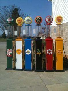 Vintage Gas Station Pumps Bob Capps