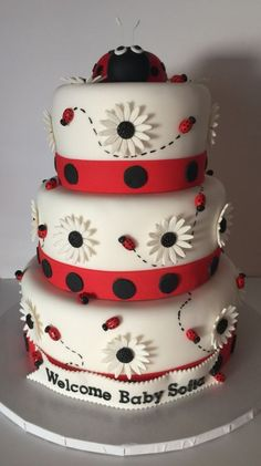 High Quality Lady Bug Themed Baby Shower Cake