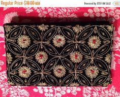 NYE 25% Off Sale Vintage Evening Bag Black Velvet by VintagEmpire