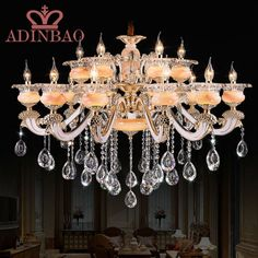 695.00$  Buy here - http://ali0cv.worldwells.pw/go.php?t=32401844211 - Luxury Big Large Modern LED Crystal Chandelier champagne color Chandeliers , Lustres De Sala 8533-10+5