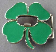 b0ead9e2706b COOL IRISH CLOVER LEAF SHAMROCK ST PATRICK BELT BUCKLES BOUCLE DE CEINTURE