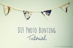 Project DIY: Photo Bunting Flags / Ruche Blog | Ruche