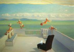 Kaj Stenvall - A Greek drama Ducks, Greek, Drama, Painting, Instagram, Art, Art Background, Painting Art, Kunst