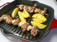 Šašlik na grilu Grill Pan, Grilling, Meat, Chicken, Kitchen, Food, Griddle Pan, Cuisine, Crickets