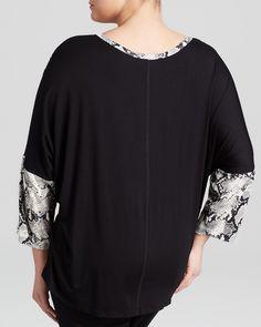 Karen Kane Plus Size Black and Grey  Python Print Top | Bloomingdale's #Plus_Size #Black_and_Grey #Python #Print  #Top #Plus #Size #Womens #Fashion #KarenKane #Plus_Size_Fashion #Bloomingdales
