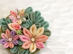 Japanese hair clip brooch CBC014 by Keikonoheya on Etsy