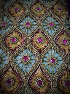 beautiful design made of beads Zardosi Embroidery, Embroidery Motifs, Embroidery Fashion, Hand Embroidery Designs, Beaded Embroidery, Cutwork Blouse Designs, Bridal Blouse Designs, Maggam Work Designs, Hand Designs