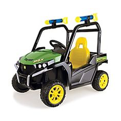 Off Road Fun! Grass stains, grasshoppers, gravel and dirt: explore the season with the John Deere battery-operated Gator™ (CAD $229.99 order now at Toys and Stuff)