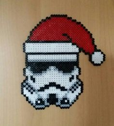 Christmas Stormtrooper - Star Wars perler beads by Antina86