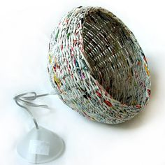 weave paper basket decorative lampshade lighting