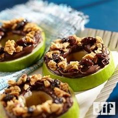 Chocolate hazelnut apple rings from Jif. I might have to substitute the raisins with something though.