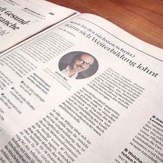 Diesmal lächle ich den FAZ Lesern in einem Special auf einer halben Seite entgegen...  #karrierebibel #zeitung #zitat #autor #autorenleben #journal #kolumne
