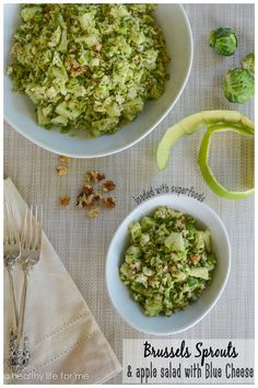 Brussels Sprouts & Apple Salad healthy super foods vegetarian Thanksgiving